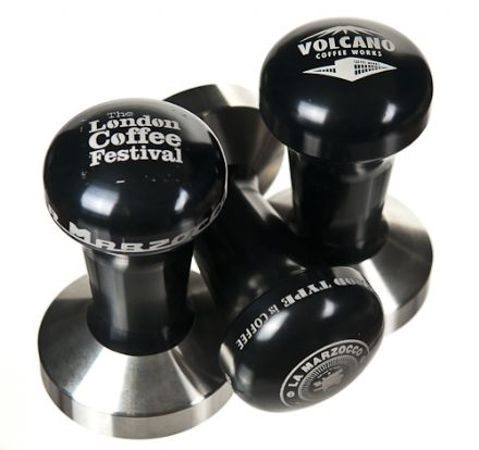 Your Logo/Text Engraved PRO-TAMP Heavyweight 53mm CONVEX Black Tamper